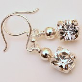 Little Stunner Earrings on Sterling Silver