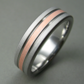 Titanium Copper Wedding Ring