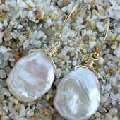 Soft Pink Keshi Pearl Earrings on 14k Gold Filled Ear Wires