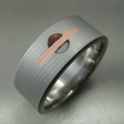 Drilled Hole Copper Titanium Ring
