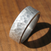 Hammered Stainless Ring