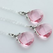 Pretty in Pink, Set of 3 Brides Maids Necklaces