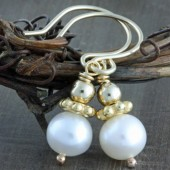 Elegant Pearl Earrings on 14k gold Filled Hand Crafted Ear Wires