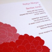 Spring Peonies Wedding Invitation