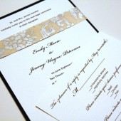 Silver Lining Wedding Invitation