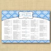 Baroque Wedding Seating Chart