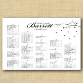 Branches Wedding Seating Chart