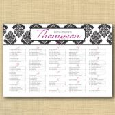Brocade Wedding Seating Chart