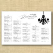 Chandelier Wedding Seating Chart
