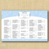 Daisy Wedding Seating Chart