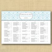 Delicate Damask Wedding Seating Chart