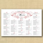 Fancy Frame Wedding Seating chart