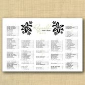 Hawaiian Flower Wedding Seating Chart