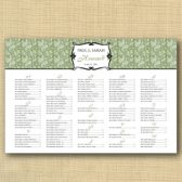 Paisley Wedding Seating Chart