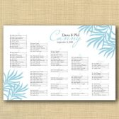 Palm Leaves Wedding Seating Chart