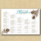 Peacock Wedding Seating Chart