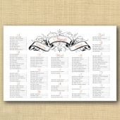 Regal Banner Wedding Seating Chart