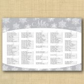 Snowflake Wedding Seating Chart