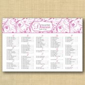 Swirl & Flower Wedding Seating Chart