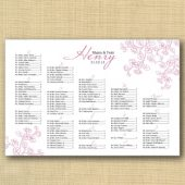 Tiny Flower Wedding Seating Chart