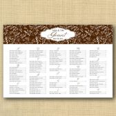 Vines Wedding Seating Chart