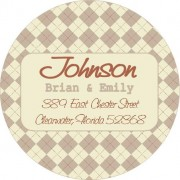 Argyle address label
