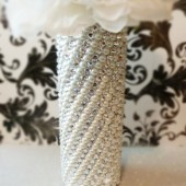 Crystal & Pearl Bridal Bouquet Handle