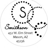Dot circles address label