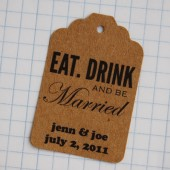 Eat, Drink, Be Married Personalized Favor Tags