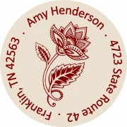 Fancy flower address label