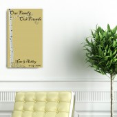 Modern Day Guesbook Original Art Birch Hardwood Wall Art Plaque