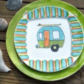 Hand Painted Beach Bound Salad Plate