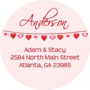 Heart banner address label