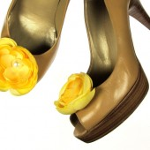 Yellow Magnetic Flower Shoe Clips