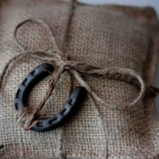 Lucky Horseshoe Ring Pillow
