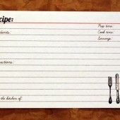 Index recipe cards