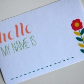 Springy name tags