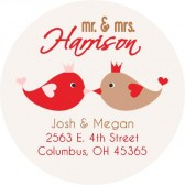 Kissing birds address label