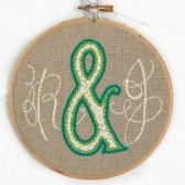 You & Me Initials Embroidery