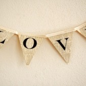 LOVE bunting banner