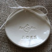 Mr & Mrs Ring Bearer Dish