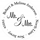 Mr. and Mrs. address label