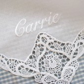 Lace Handkerchief with Name