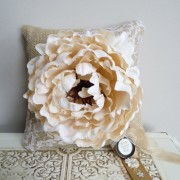 Ring Bearer Pillow - Burlap & Lace