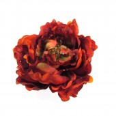 Red peony brooch magnet