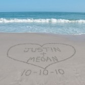 Sand Writing Personalized Photograph