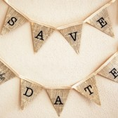 Save the date bunting banner