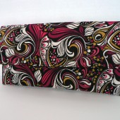 Coronado Clutch - Modern Floral Scroll In Berry