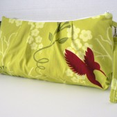 cataline Clutch Hummimg Bird in lime