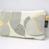 Optic Blossom Zippered Clutch Pouch